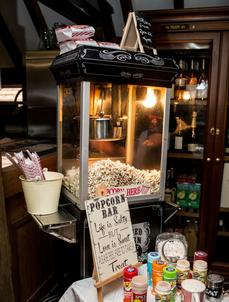 sweet dreams candy cart black popcorn machine hire sussex
