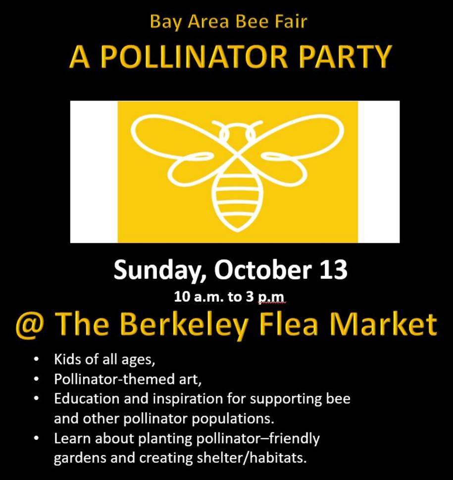 A Pollinator Party at the Berkeley Flea Market