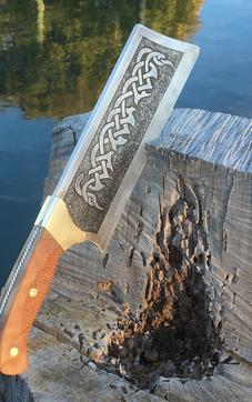 How to make a Celtic Cleaver knife with etched blade and spine. FREE step by step instructions. www.DIYeasycrafts.com