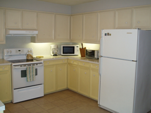 The kitchen of Blan's House, a furnished, short-term, 3-bedroom corporate rental house in Victoria TX.