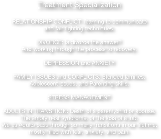 Family And Marriage Counseling, Adults in Transition