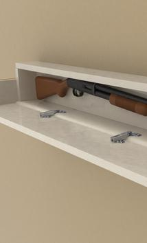 DIY Secret Floating Shelf Gun Safe. www.DIYeasycrafts.com