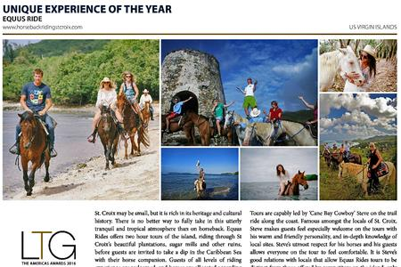 Award for Best Horseback Riding on the Beach in St. Croix