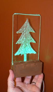 How to make a LED Plexiglass Christmas Decoration. www.DIYeasycrafts.com