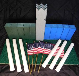 www.kubb.games plastic colorful kubb sets made in the USA - Swedish game - viking game - fun game - new game - plastic kubb - wood kubb - Classic Plastic Kubb - green blue gray