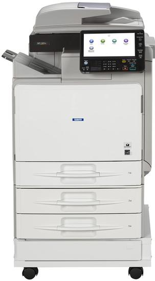 "Ricoh/Savin MP C401 42 page per minute 8.5"" x 14"" capable color multifunction printer, copier, MFP. The Ricoh/Savin MP C401SR includes an Internal Stapler Finisher. 1200 dpi print resolution, 9 inch color LCD control panel with USB/SD card slots. Perfect small office printer/copier, small business printer/copier, workgroup printer/copier. User-friendly, customizable, compact, affordable printer/copier/MFP. Print, copy, scan, fax capable. Sold by Cedar Rapids Photo Copy, Inc. in Cedar Rapids, IA. Your corridor/Eastern Iowa/local expert in office printing technology and general office technology solutions since 1965."