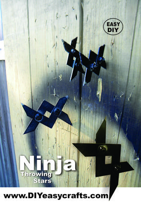 DIY Ninja throwing stars. Easy DIY project. www.DIYeasycrafts.com