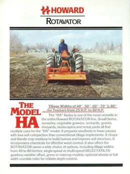 Howard Rotavator Model HA Brochure
