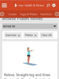 Pilates Health Fitness MSN Bing App