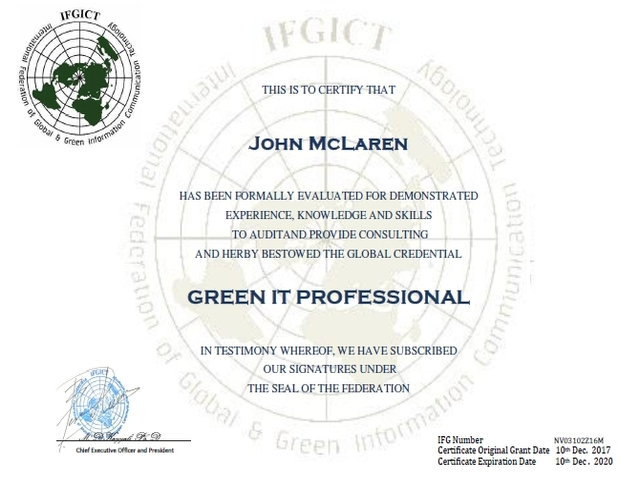 IFGICT , International Federation of Global & Green ICT IFGICT ...