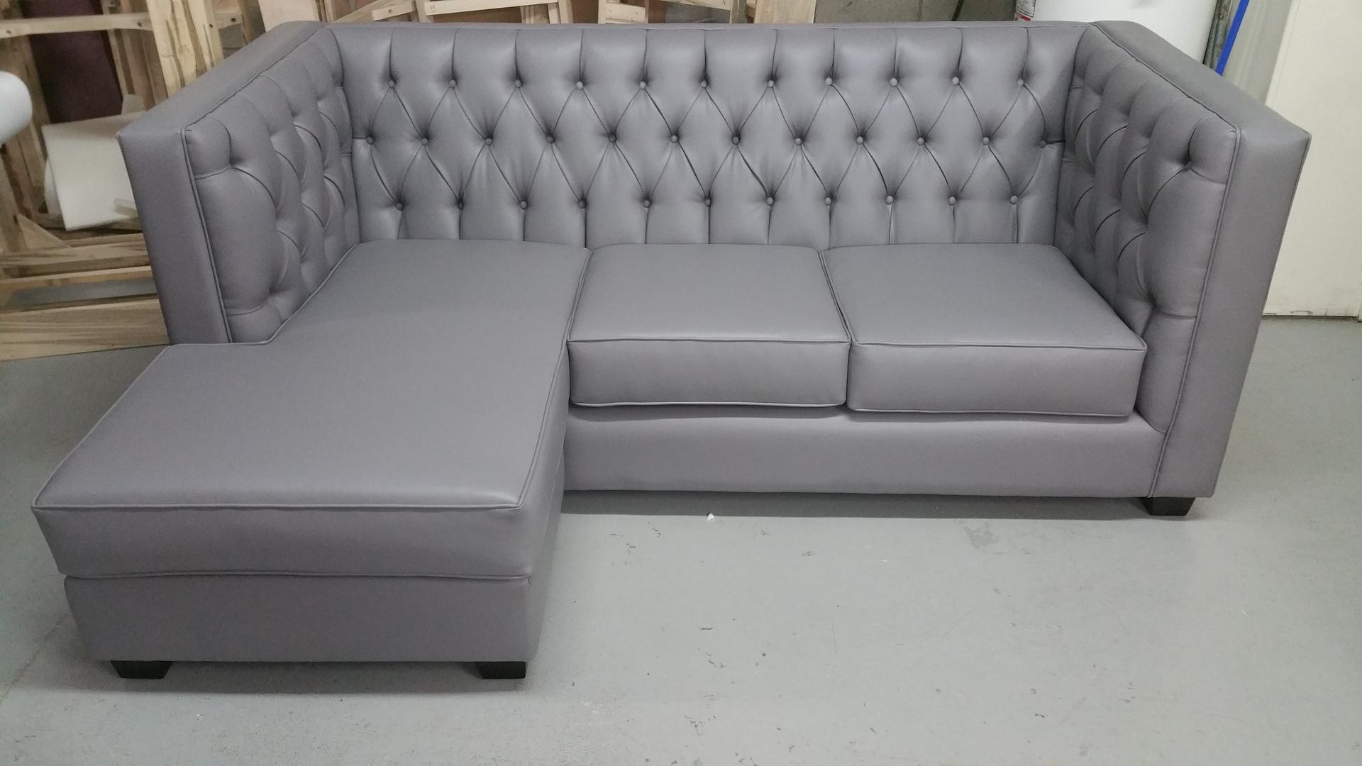 Beautiful Tufted Chaise sofa