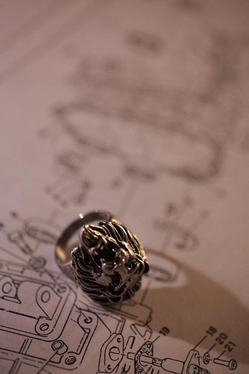 ring over schematics industrial design engineering lion theme