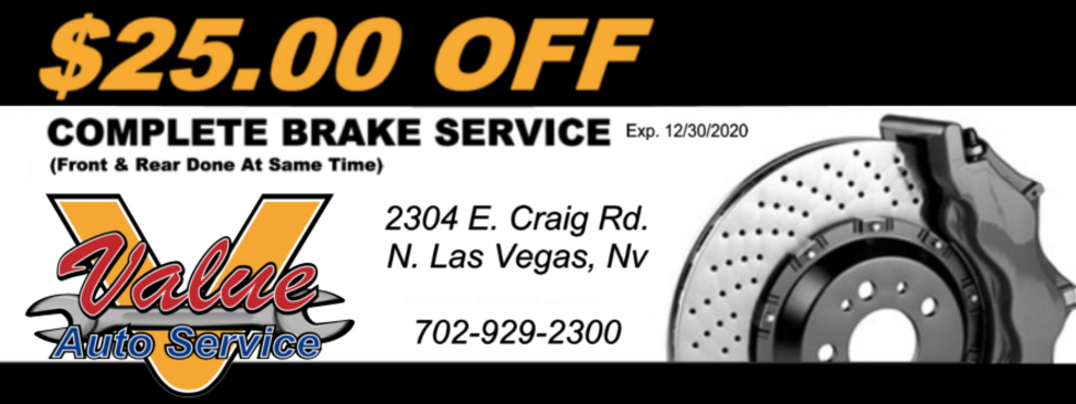 Brake Special Auto Repair Coupon