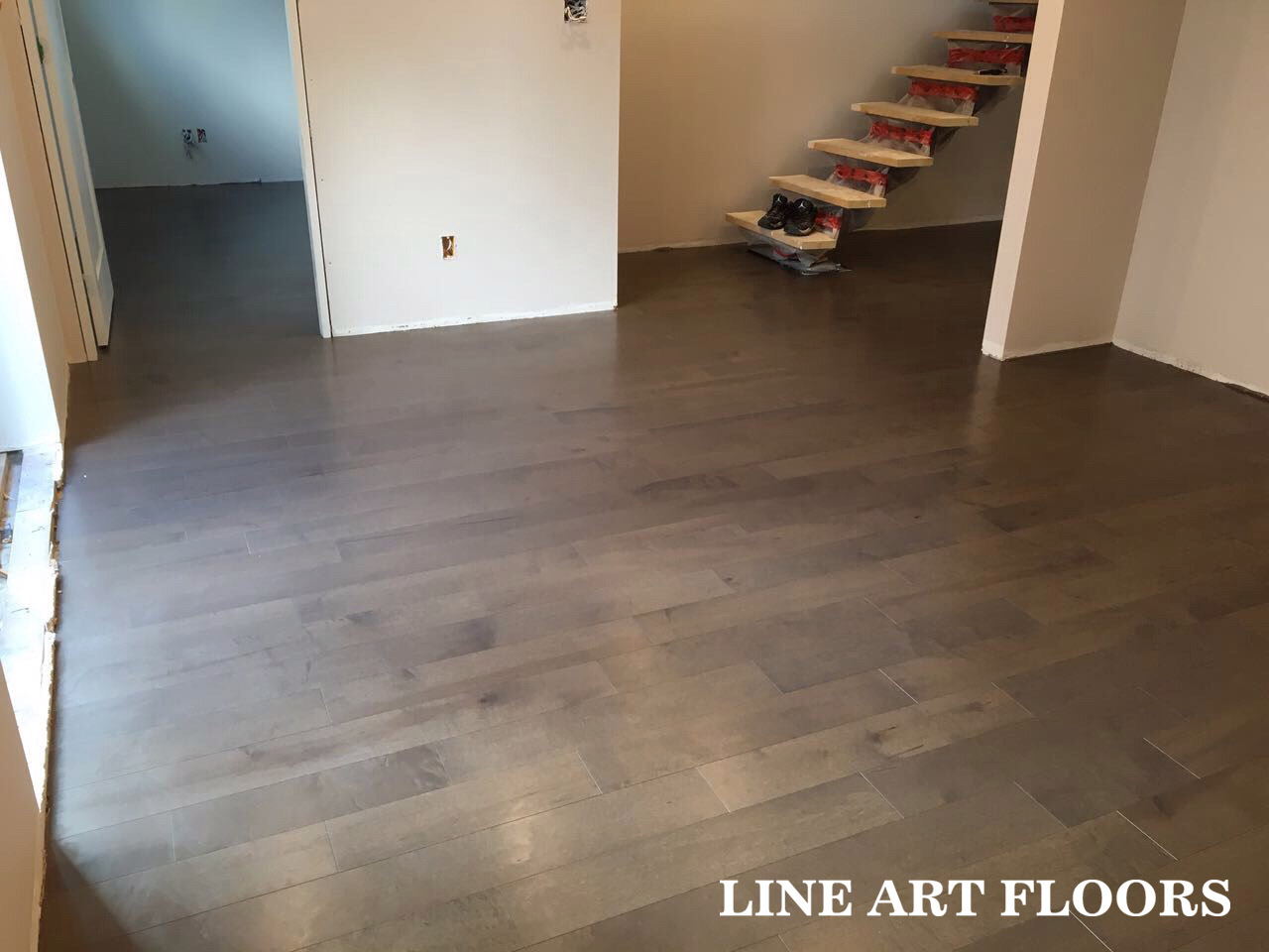 Line Art Floors : Lauzon hard maple color#carob north vancouver custom home project