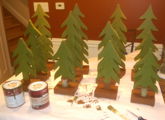 How to make DIY Wood Christmas Tree decorations. www.DIYeasycrafts.com