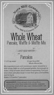 Nora Mill Whole Wheat Waffles Pancakes Muffins