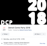 Detroit, Comix Party, Tangent Gallery,