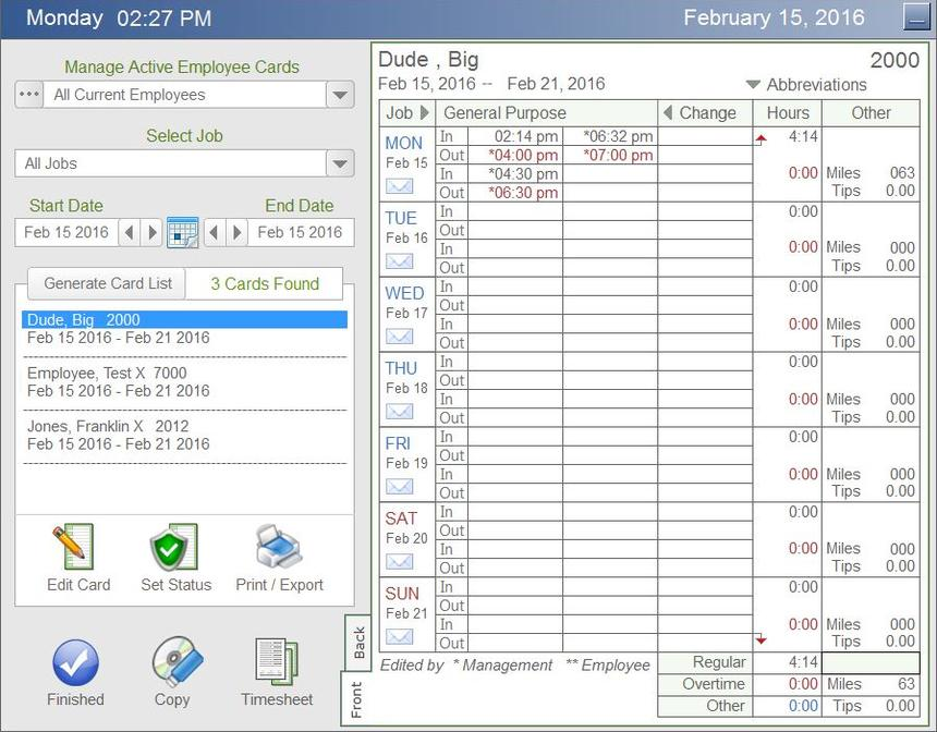 Econsoft  Time Clock Software Time Calculator Software Time