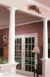 Tapered wood columns room separation