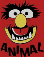 Cross Stitch Pattern Chart of Muppet Animal Face