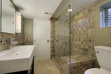 tile shower contractor new vanity tile backsplash shower lighting bathroom remodel Elizabeth Colorado
