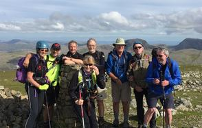 Guided group on Pillar Rock in the Lake District