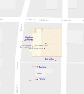 mile high harmonica club parking map