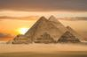 The Great Pyramids at sunset