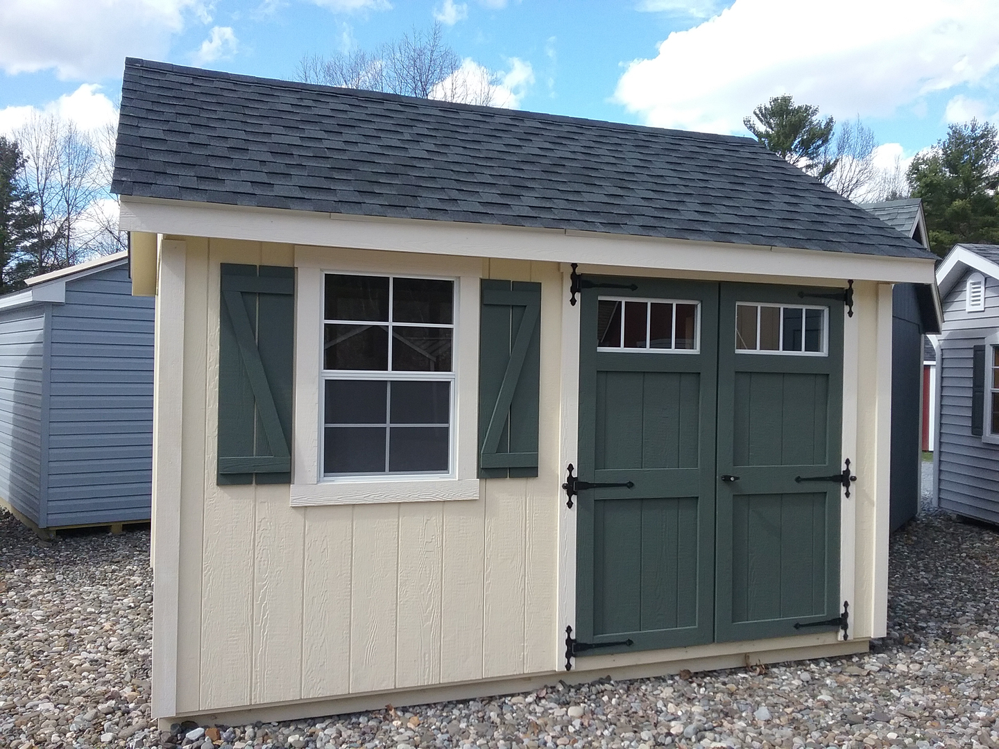 Deluxe with dormer transom windows and cupola - Shed 306