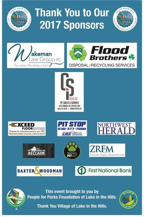 Sponsors for Pub in the Park 2017