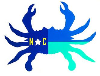 nauical nc crab, nc crab art, nc crab sticker, nc crab, nc crab decor, nc crab decal, nc sealife artist, nc sealife art,nc crab sticker, crab sticker, nautical flag sticker, nautical flag crab sticker, nautic dreams, nautical flags, nc sticker, barry knauff