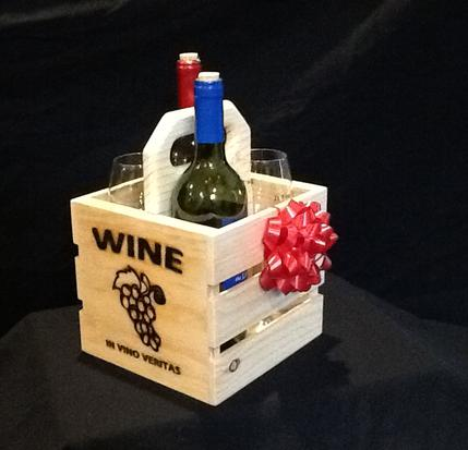 Buy wood wine gift crates like this online