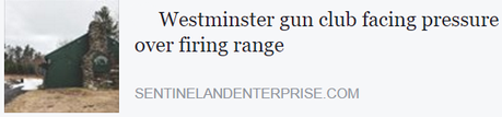 Link to Sentinel & Enterprise story about Westminster Rod & Gun Club