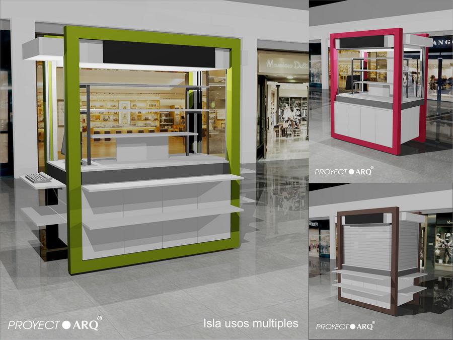 Kioscos e islas para centros comerciales plazas for Como fabricar un kiosco de madera
