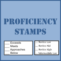 Proficiency Stamps