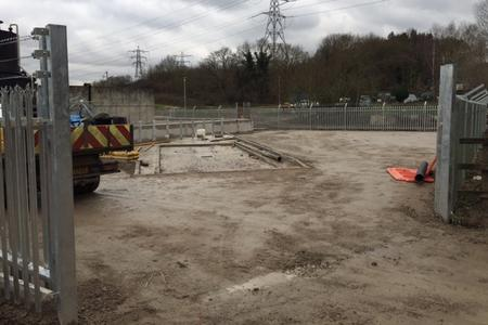 Shelford Fencing and caustic containment area