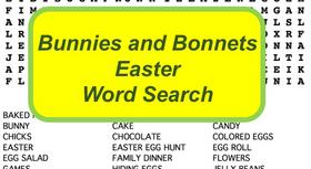 Easter Word Search Puzzle with Non-Religious Terms