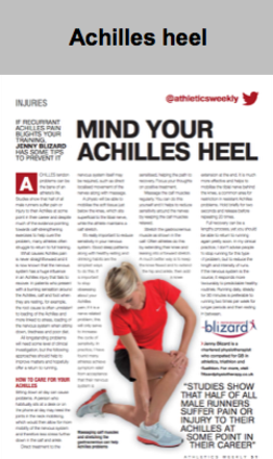 Achilles heel article