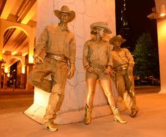 Gold Cowboys Living Statues at a Corporate Event