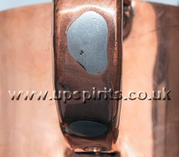 Copper rum measure-Round-Royal Navy-Handle solder infilled