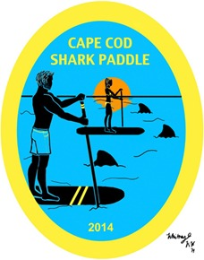 Cape Cod Shark Paddle 2014 poster