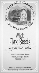 Nora Mill Flax Seeds Recipes