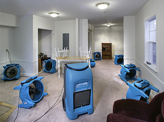 Water Extraction - Dryout - Emergency Services - Water Damage Restoration - Claim Professional accepts all insurance