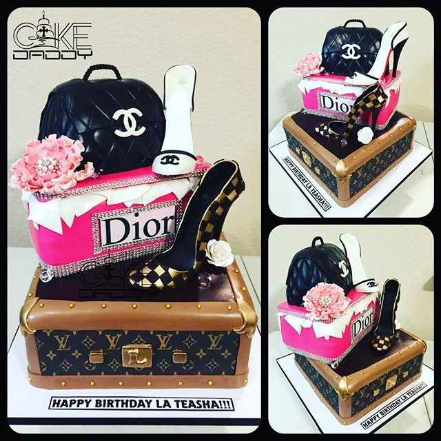 Designer Themed Birthday Cake