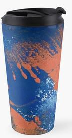 Print Work Blue Travel Mug