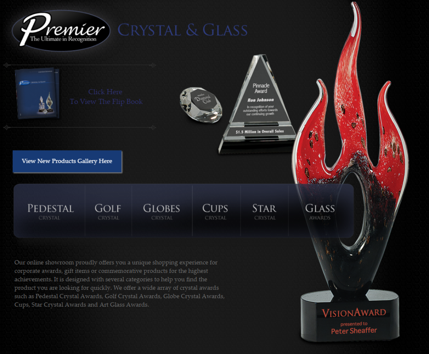 Personalized Glass Crystal Awards Custom Engraved Plaques Trophies