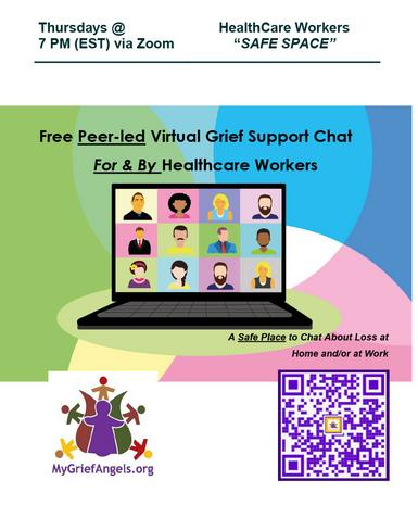Healthcare Workers Free Peer-led Virtual Grief Support Group