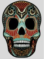 Cross Stitch Chart of Sugar Skull No 39