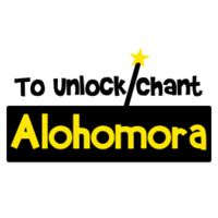 To Unlock, Chant Alohomora Sticker