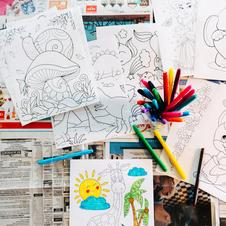 kids free coloring page download